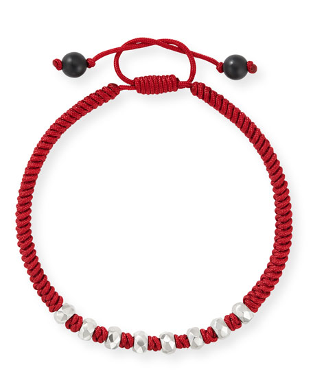 David Yurman Men's Fortune Woven Bracelet w/ Beaded Embellishments