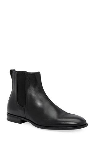 Aquatalia Men's Adrian Leather Dress Chelsea Boots