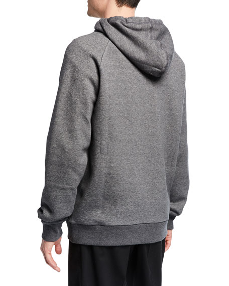 Lanvin Men's Anti-Logo Fleece Zip-Front Hoodie