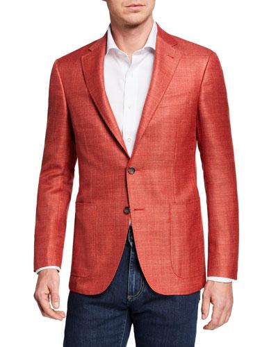 Men's Wool/Linen Blazer Jacket