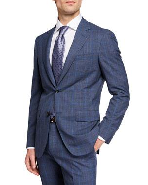 98af33199 Canali Men's Impeccabile 130s Wool Plaid Two-Piece Suit