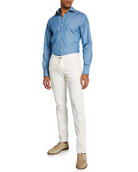 Canali Men's Text Stretch Pants