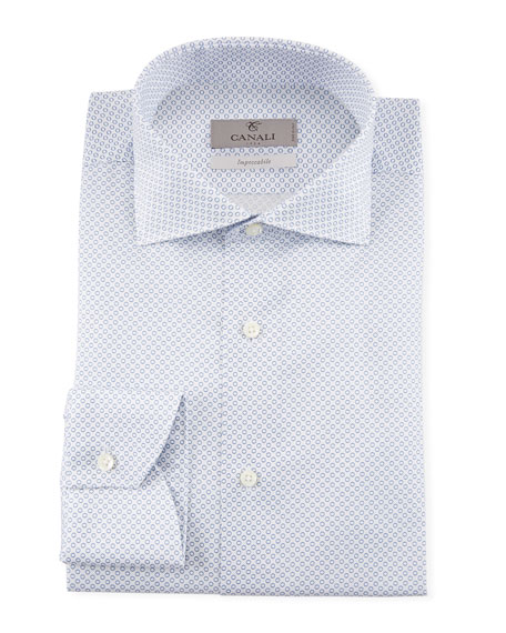 Canali Men's Micro Circles Dress Shirt