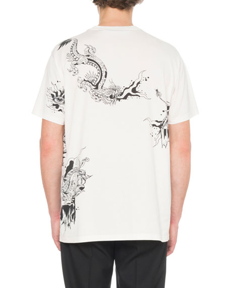 Givenchy Men's Dragon Print T-Shirt