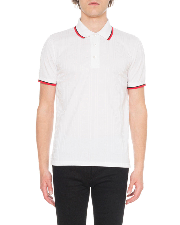 73141a48 Givenchy Men's Tonal Logo Polo Shirt   Neiman Marcus