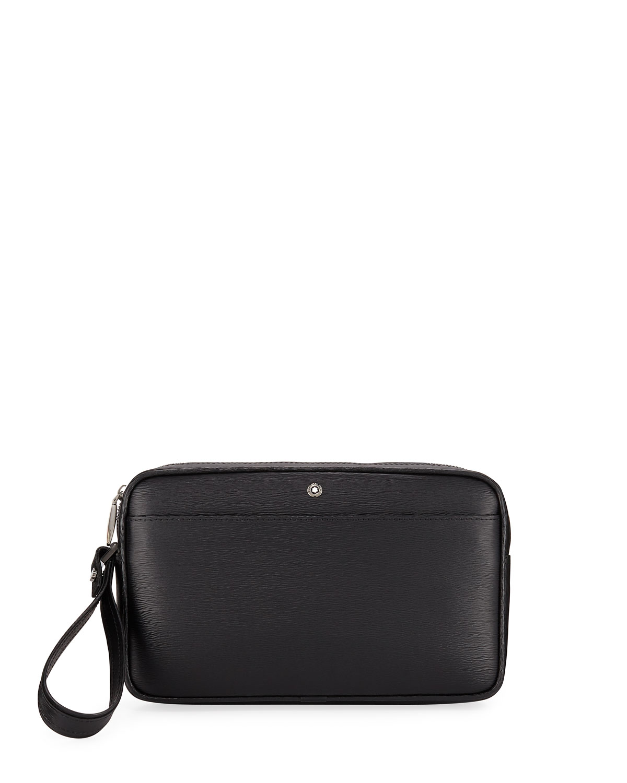 7f156e234 Montblanc Men's Westside Leather Zip-Top Clutch Bag/Travel Case ...