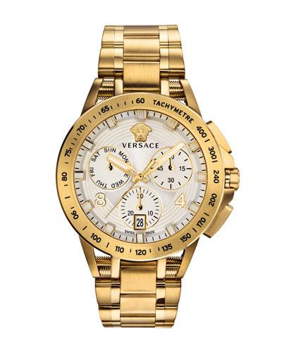 Men's 45mm Sport Tech Chronograph Watch  Gold