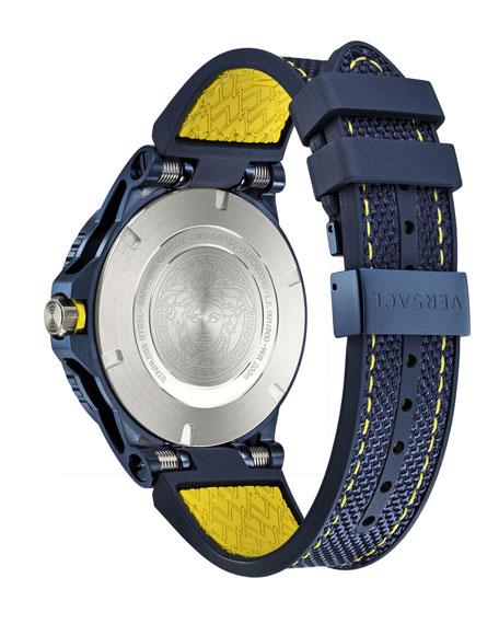 Versace Men's Sport Tech Diver Watch, Blue