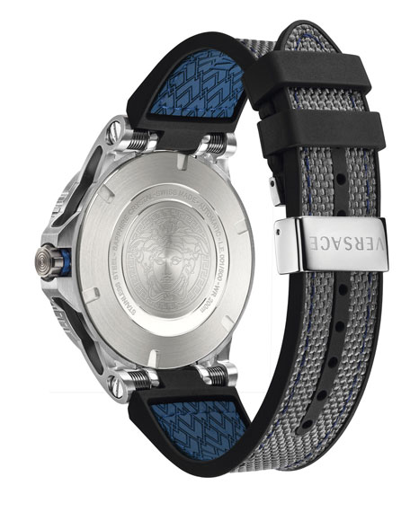 Versace Men's Sport Tech Diver Watch, Navy