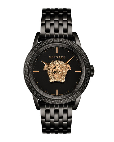 Men's 43mm Palazzo Empire Watch  Black/Gold