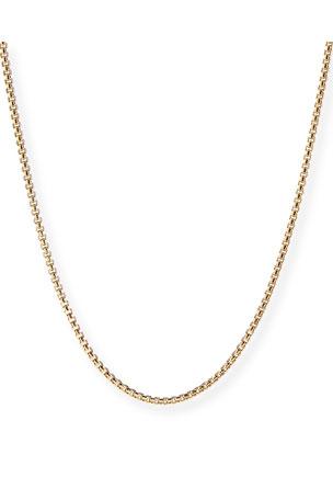 "David Yurman Men's 18k Gold Box Chain Necklace, 22""L $2800.00"