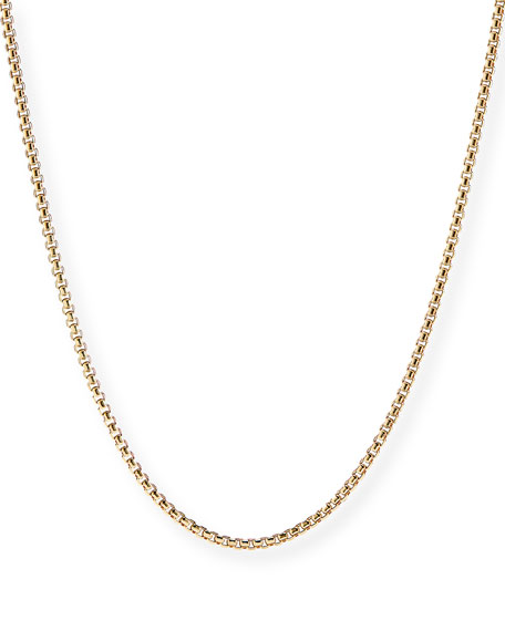 David Yurman Men S 18k Gold Box Chain Necklace 24 Quot L