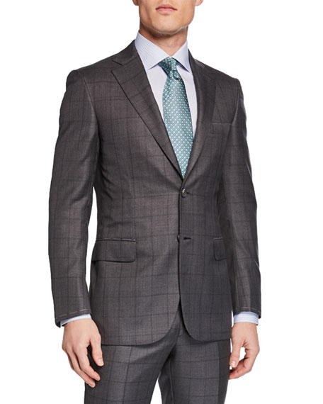 Brioni Men's Windowpane Two-Piece Suit