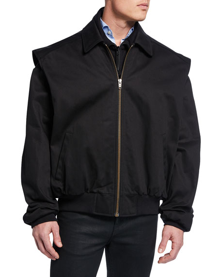 Balenciaga Men's Twinset Convertible Twill Jacket/Vest