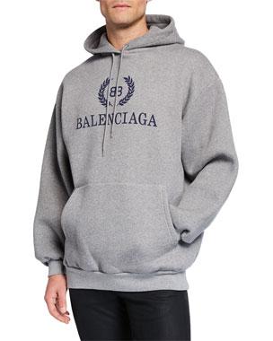 8962fd244 Balenciaga Men's Logo-Front Pullover Hoodie
