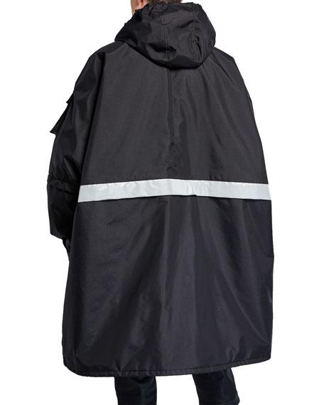 Balenciaga Men's Reflective Stripe Zip-Front Parka