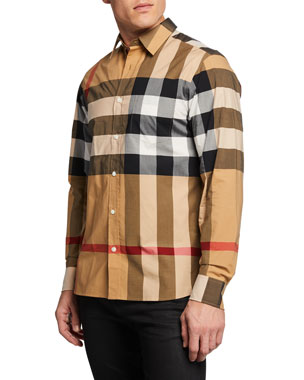 1cad13b3da170 Men's Casual Button-Down Shirts at Neiman Marcus