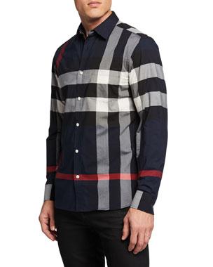 43dc8803d1d5 Men's Casual Button-Down Shirts at Neiman Marcus