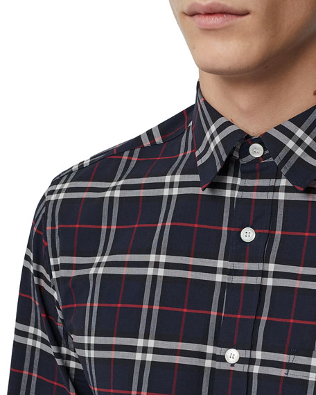 Burberry Men's George Check Button-Down Shirt
