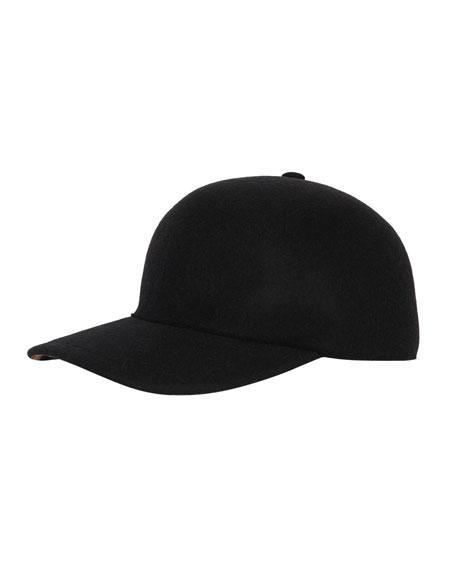 Burberry Men's Molded Wool Baseball Cap