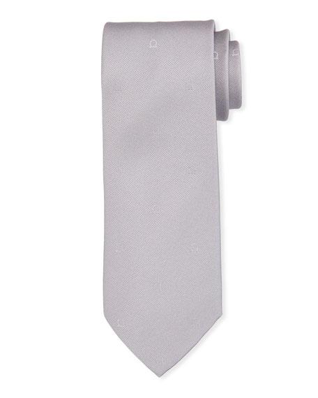 Salvatore Ferragamo Eston Solid Silk Tie, Gray