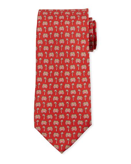Salvatore Ferragamo Vacation Motif Silk Tie