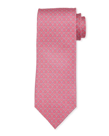 Salvatore Ferragamo Block Gancio Silk Tie