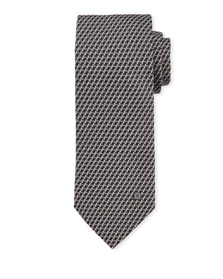 Salvatore Ferragamo Swirl Silk Tie, Gray