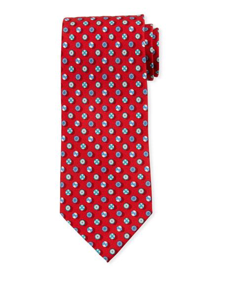 Salvatore Ferragamo Umbrella-Print Silk Tie, Red