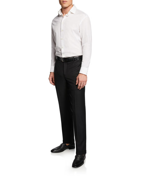 Santorelli Men's 130s Wool Twill Dress Pants