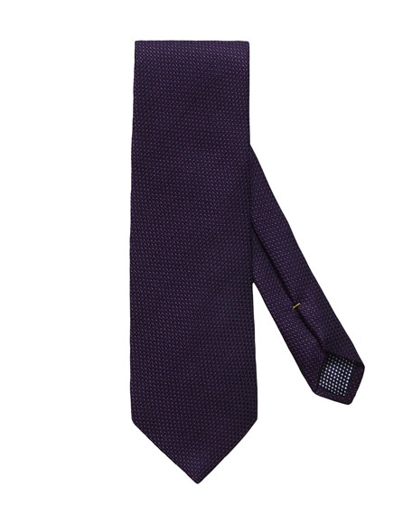Eton Men's Solid Wool/Silk Tie