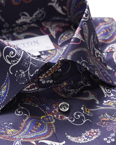 Eton Men's Slim Fit Paisley Print Shirt