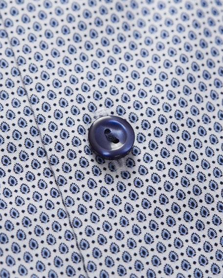 Eton Men's Contemporary Fit Neat Print Dress Shirt