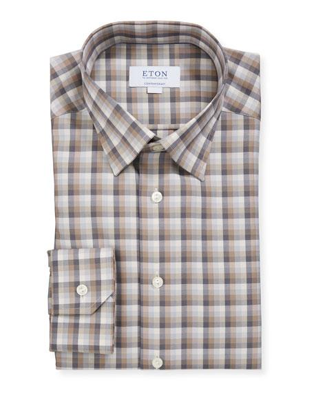 Eton Men's Contemporary-Fit Plaid Dress Shirt
