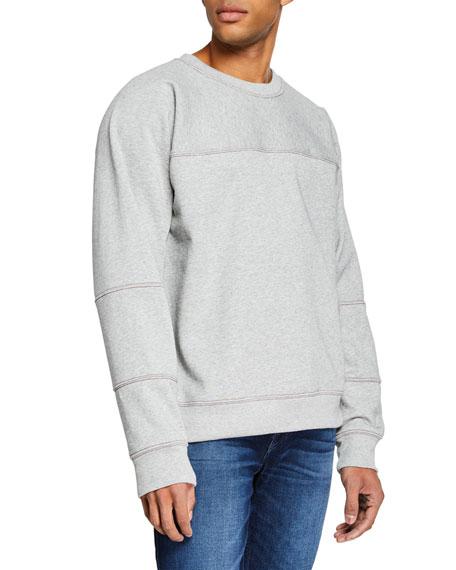 7 For All Mankind Men's Paneled Fleece Shirt