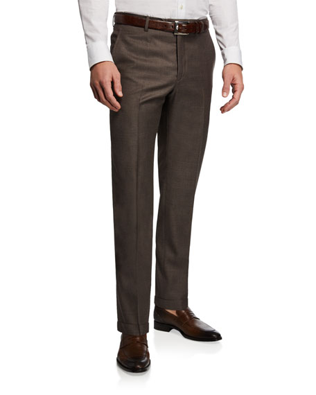 Santorelli Men's 130s Wool Dress Pants