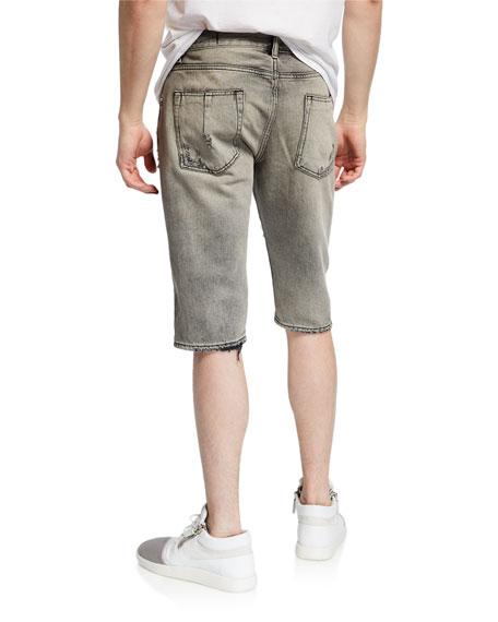 UNRAVEL Men's Distressed Jean Shorts