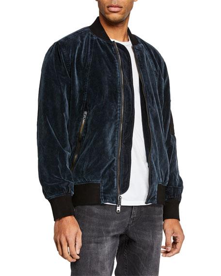 Hudson Men's Velvet Bomber Jacket