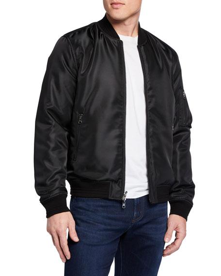 J Brand Men's Volatus Satin Bomber Jacket