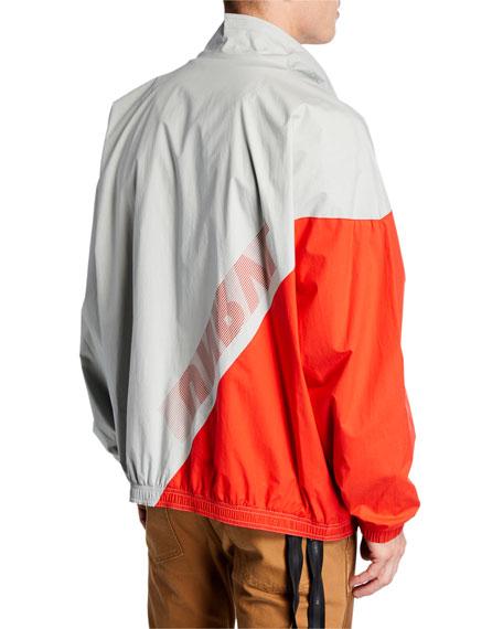 UNRAVEL Men's Two-Tone Zip-Front Jacket