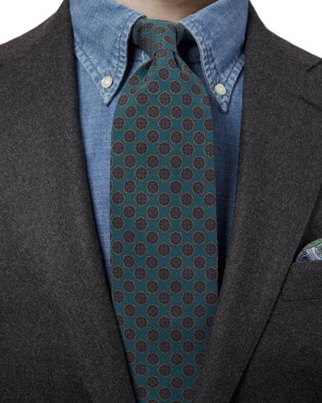 Eton Men's Neat Medallion Tie