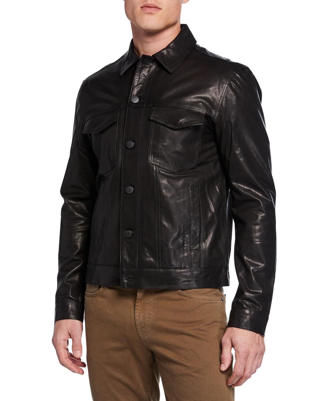 Men's Acamar Lamb Leather Jacket by J Brand