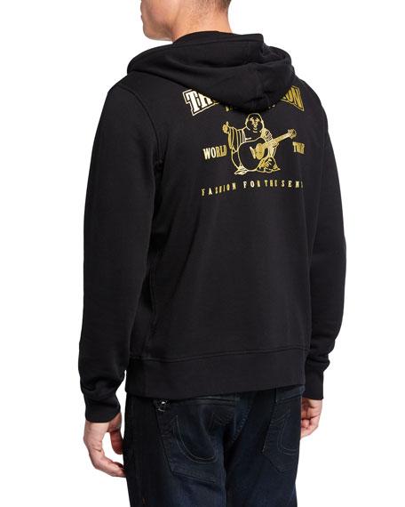 True Religion Men's Metallic-Logo Hoodie Sweatshirt