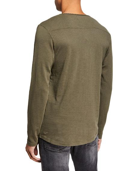 Hudson Men's Long-Sleeve Henley T-Shirt