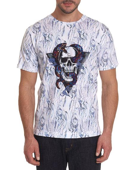 Robert Graham Men's Snake Skull T-Shirt