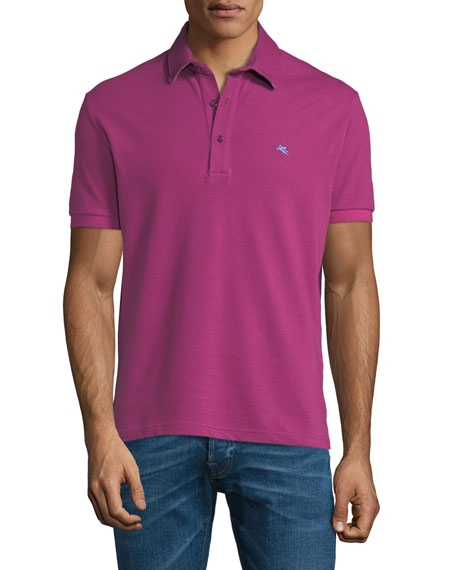 Etro Men's Solid Polo Shirt