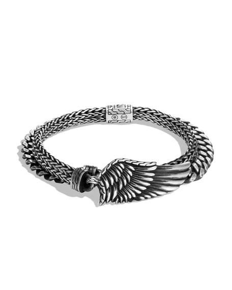 John Hardy Men's Legends Eagle Silver Double-Wrap Bracelet