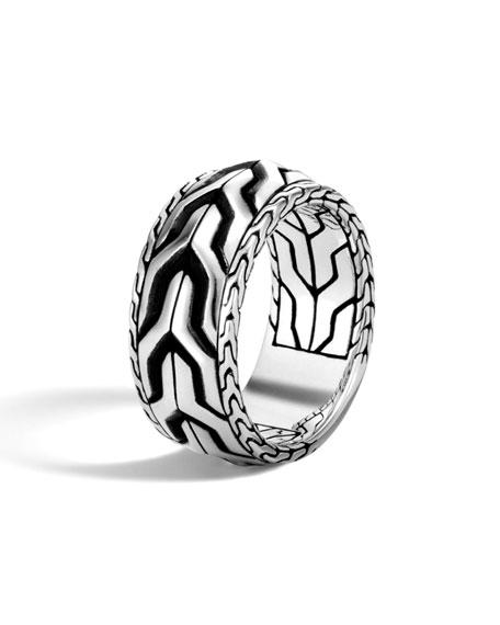 John Hardy Men's Classic Chain Asli Silver Band Ring