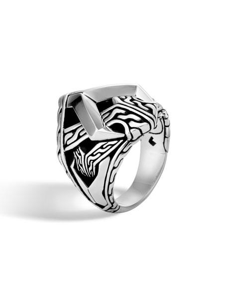 John Hardy Men's Classic Chain Asli Silver Link Ring