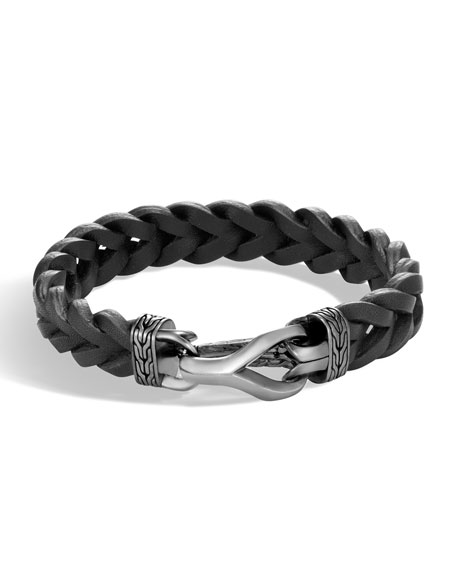 John Hardy Men's Classic Chain Leather Bracelet